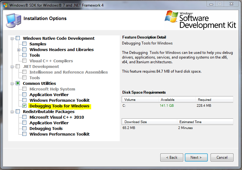 Windows SDK Installer