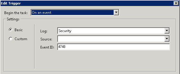 Automatic Notification for Active Directory Account Lockouts